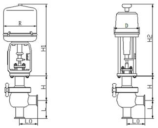 卫生级电动调节阀图片